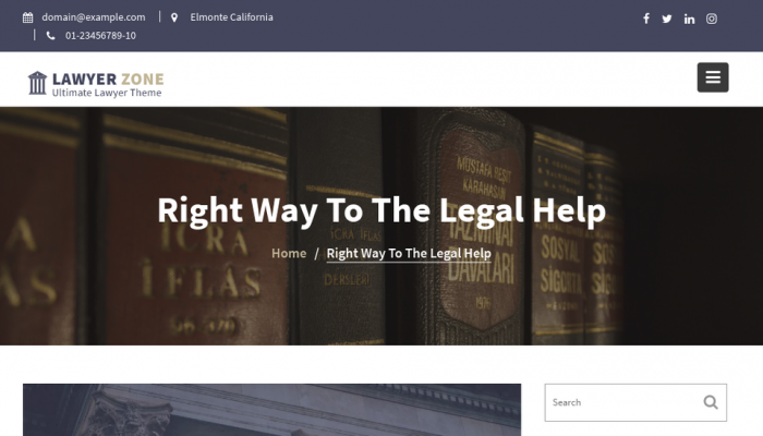 پیش نمایش دسکتاپ قالب وردپرس Lawyer Zone