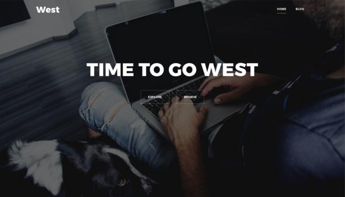 پیش نمایش دسکتاپ قالب وردپرس West