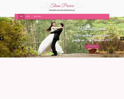 دانلود رایگان قالب وردپرس SKT Wedding Lite