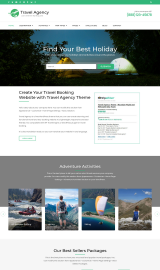 پیش نمایش موبایل قالب وردپرس Travel Agency