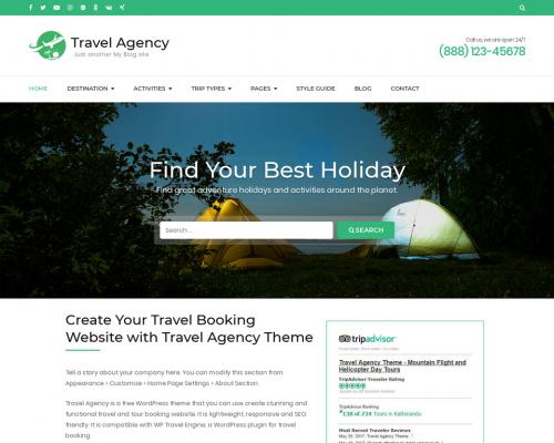 دانلود رایگان قالب وردپرس Travel Agency
