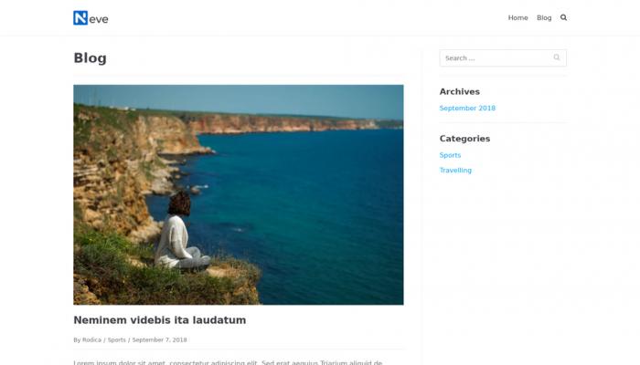 پیش نمایش دسکتاپ قالب وردپرس Neve Blog
