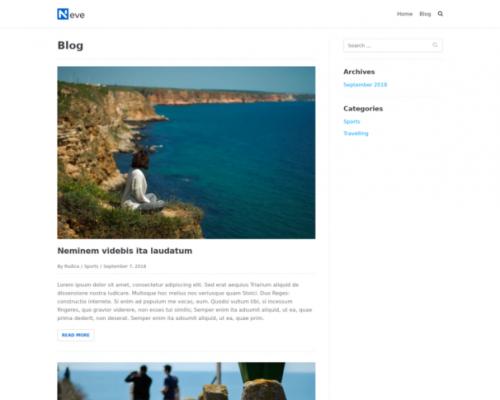 دانلود رایگان قالب وردپرس Neve Blog