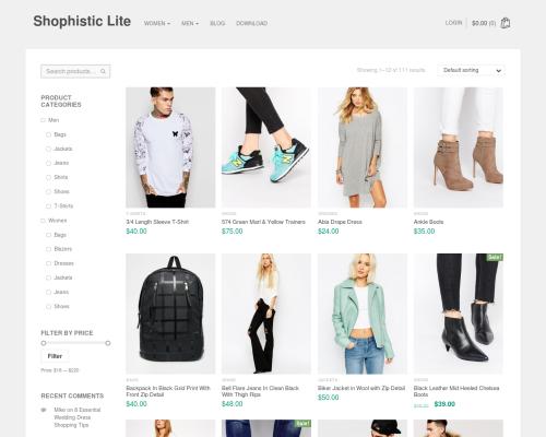 دانلود رایگان قالب وردپرس Shophistic Lite