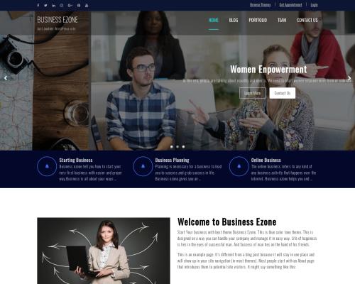 دانلود رایگان قالب وردپرس Business Zone
