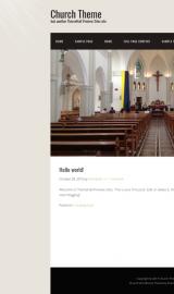 پیش نمایش موبایل قالب وردپرس Church