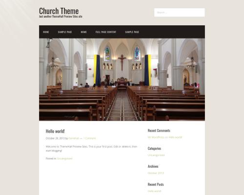 دانلود رایگان قالب وردپرس Church