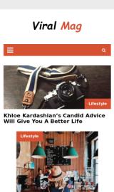 پیش نمایش موبایل قالب وردپرس Viral Mag