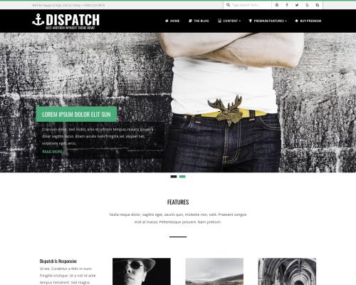 دانلود رایگان قالب وردپرس Dispatch