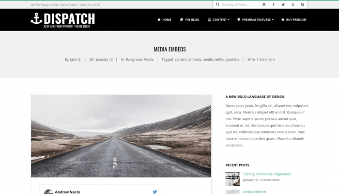 پیش نمایش دسکتاپ قالب وردپرس Dispatch