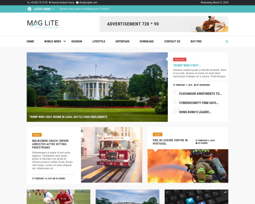دانلود رایگان قالب وردپرس Mag Lite