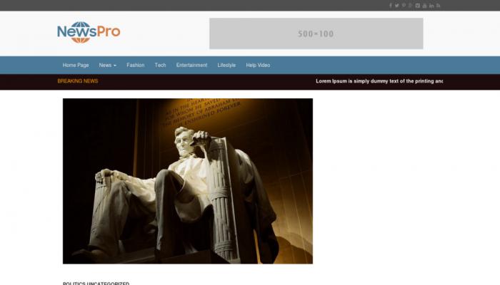 پیش نمایش دسکتاپ قالب وردپرس NewsPro