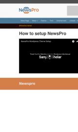 پیش نمایش موبایل قالب وردپرس NewsPro