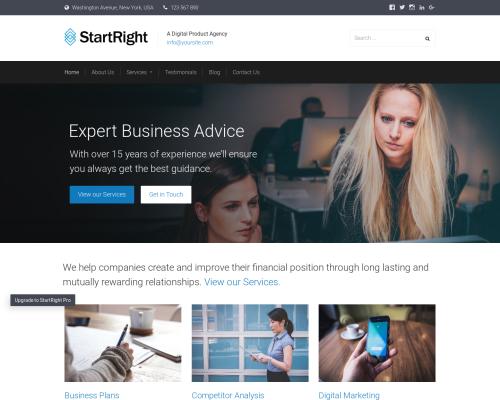 دانلود رایگان قالب وردپرس StartRight