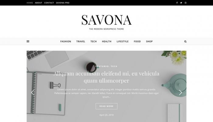 پیش نمایش دسکتاپ قالب وردپرس Savona