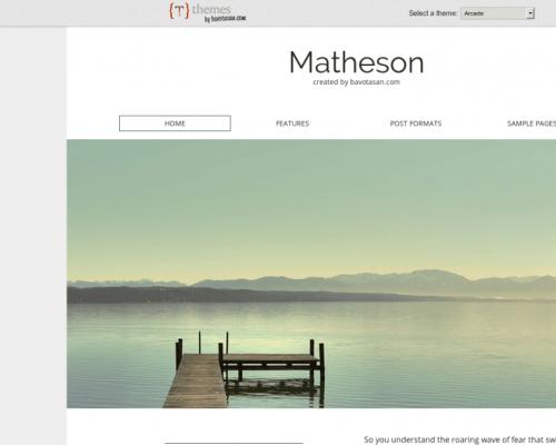 دانلود رایگان قالب وردپرس Matheson