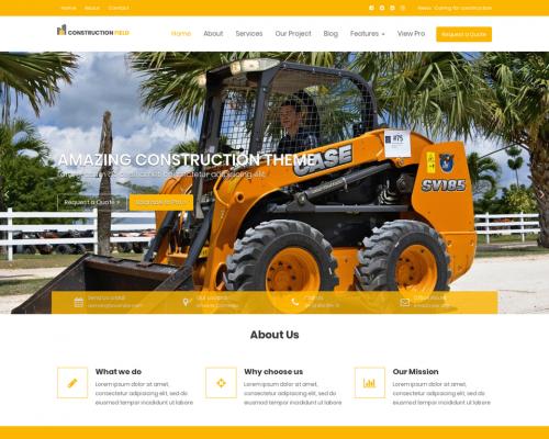 دانلود رایگان قالب وردپرس Construction Field