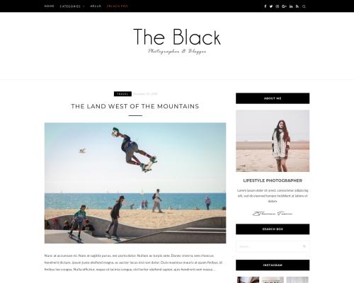 دانلود رایگان قالب وردپرس BlackLite