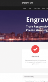 پیش نمایش موبایل قالب وردپرس Engrave Lite