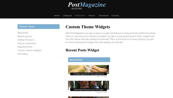 پیش نمایش دسکتاپ قالب وردپرس PostMagazine