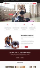 پیش نمایش موبایل قالب وردپرس Fitness Hub