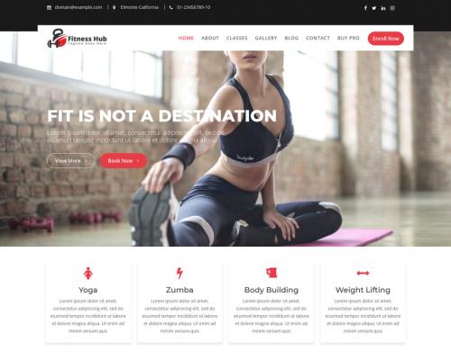 دانلود رایگان قالب وردپرس Fitness Hub