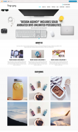 پیش نمایش موبایل قالب وردپرس SKT Design Agency