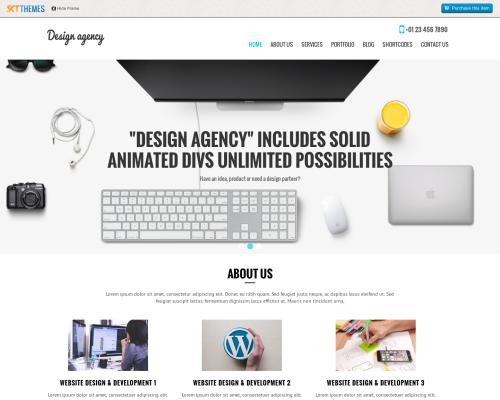 دانلود رایگان قالب وردپرس SKT Design Agency