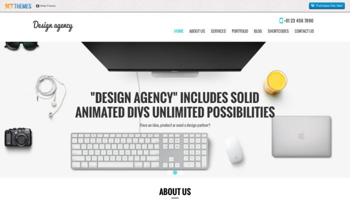 پیش نمایش دسکتاپ قالب وردپرس SKT Design Agency