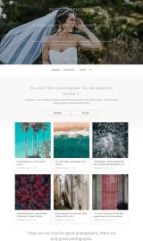 پیش نمایش موبایل قالب وردپرس Photography Blog