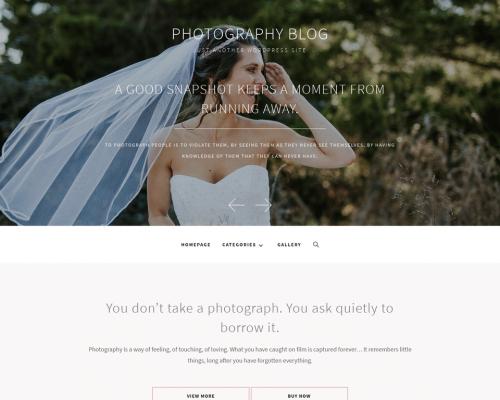 دانلود رایگان قالب وردپرس Photography Blog