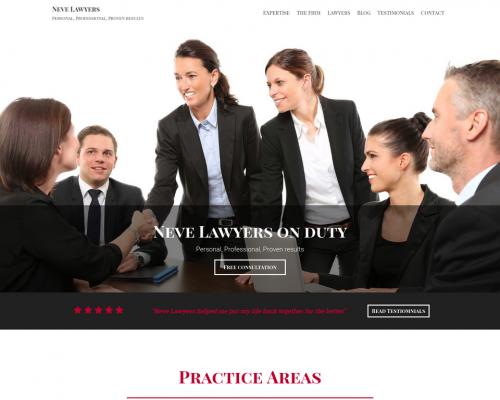 دانلود رایگان قالب وردپرس Neve Lawyers