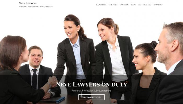 پیش نمایش دسکتاپ قالب وردپرس Neve Lawyers