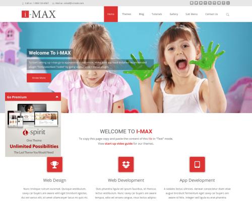 دانلود رایگان قالب وردپرس i-max