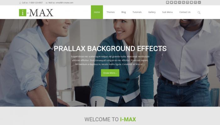 پیش نمایش دسکتاپ قالب وردپرس i-max