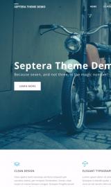 پیش نمایش موبایل قالب وردپرس Septera