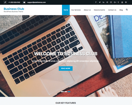 دانلود رایگان قالب وردپرس Business Club