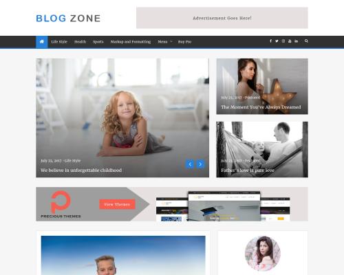 دانلود رایگان قالب وردپرس Blog Zone