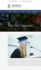 پیش نمایش موبایل قالب وردپرس Graduate