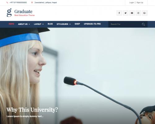 دانلود رایگان قالب وردپرس Graduate