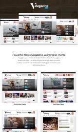 پیش نمایش موبایل قالب وردپرس VMagazine Lite