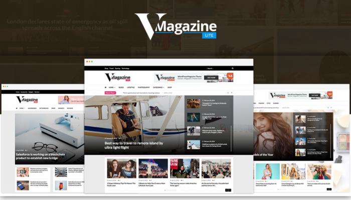 پیش نمایش دسکتاپ قالب وردپرس VMagazine Lite