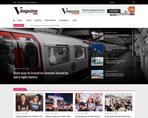 دانلود رایگان قالب وردپرس VMagazine Lite