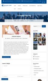 پیش نمایش موبایل قالب وردپرس Education Web