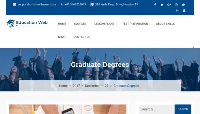 پیش نمایش دسکتاپ قالب وردپرس Education Web