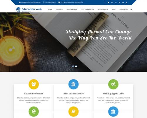 دانلود رایگان قالب وردپرس Education Web
