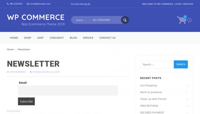 پیش نمایش دسکتاپ قالب وردپرس WP Commerce
