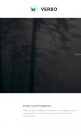 پیش نمایش موبایل قالب وردپرس Verbo