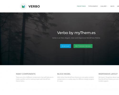 دانلود رایگان قالب وردپرس Verbo