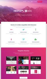 پیش نمایش موبایل قالب وردپرس Hestia Elementor